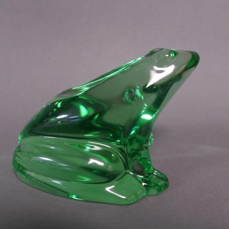Baccarat Green Crystal Frog - 2