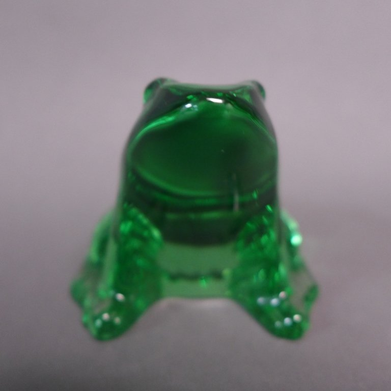 Baccarat Green Crystal Frog - 5