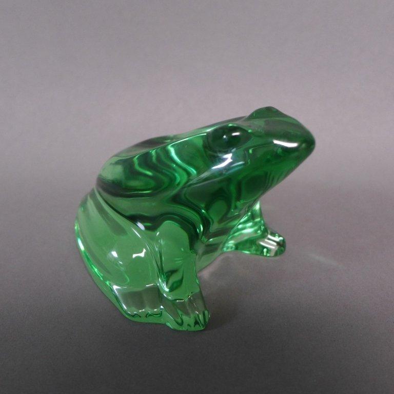 Baccarat Green Crystal Frog - 7