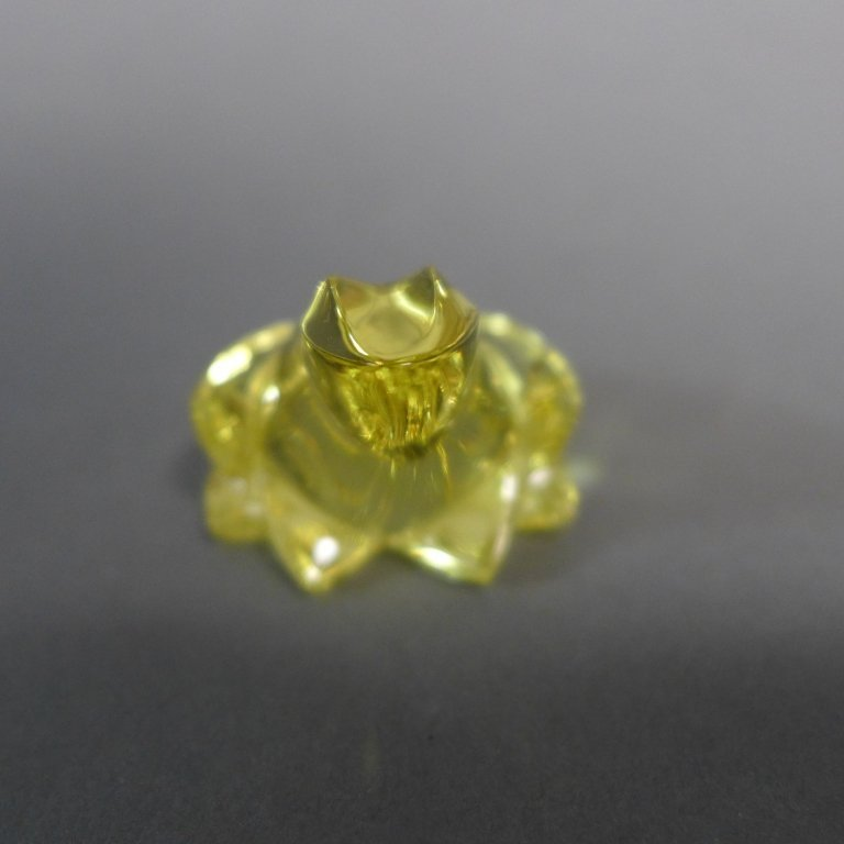 Baccarat Yellow Crystal Frog - 5
