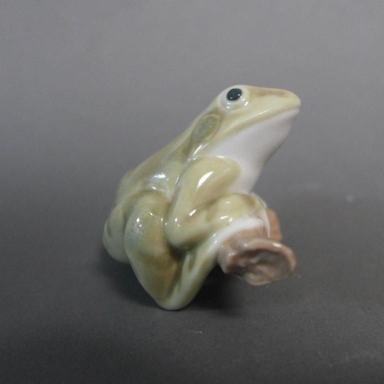 Lladro Lucky Frog Porcelain Figurine - 3