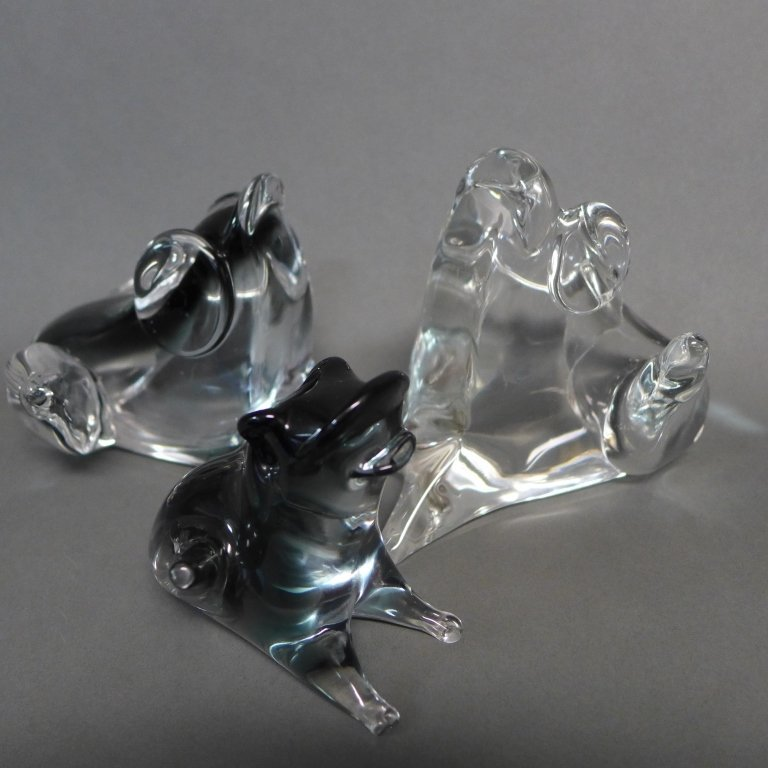 Zanetti Murano Art Glass Frog Grouping