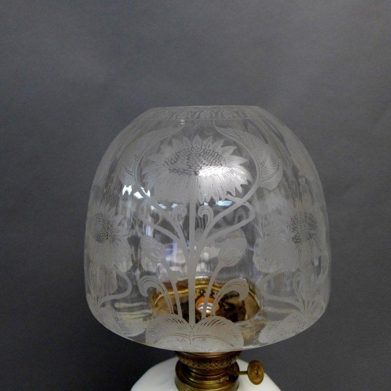 Gebruder Brunner Wien Austria Oil Lamp - 4