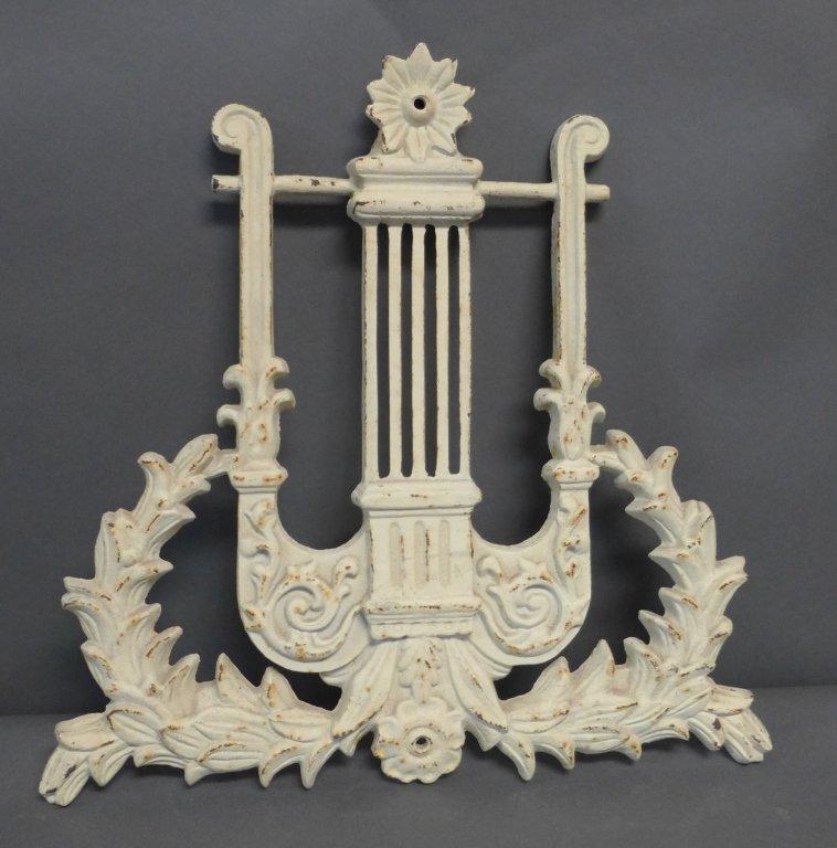 Vintage Cast Iron Lyre Architectural Element
