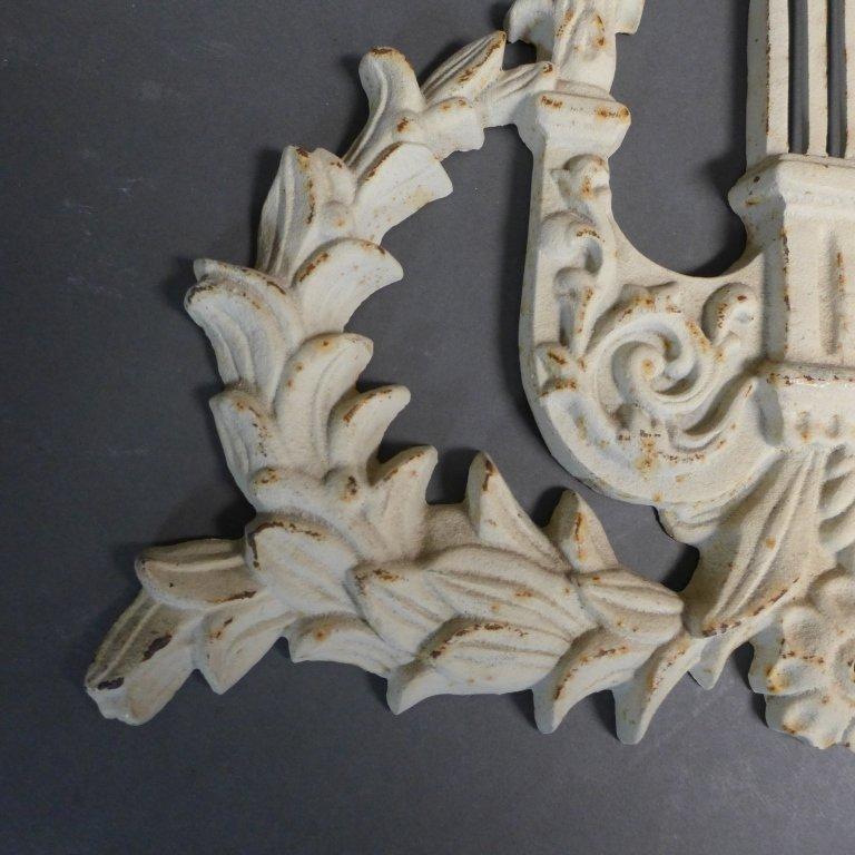 Vintage Cast Iron Lyre Architectural Element - 5