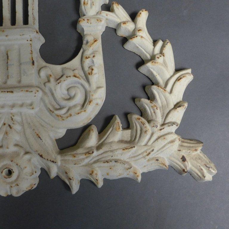 Vintage Cast Iron Lyre Architectural Element - 6