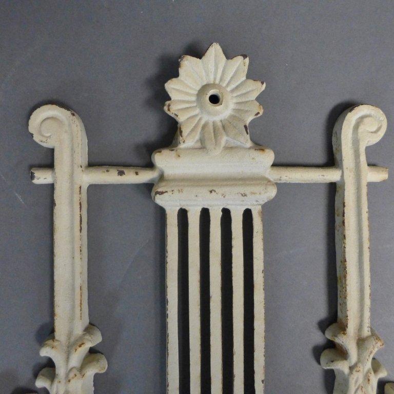 Vintage Cast Iron Lyre Architectural Element - 7