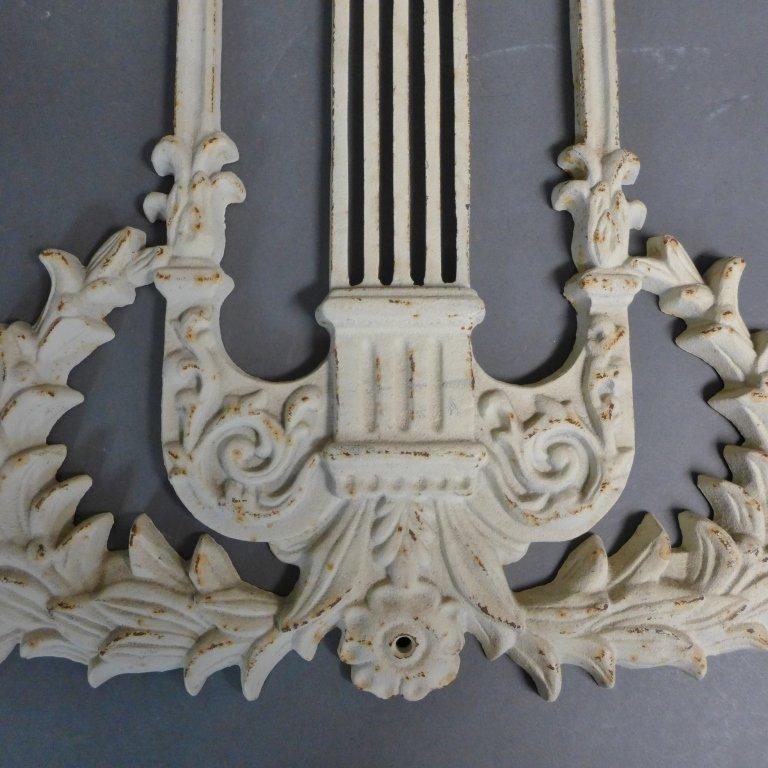 Vintage Cast Iron Lyre Architectural Element - 8