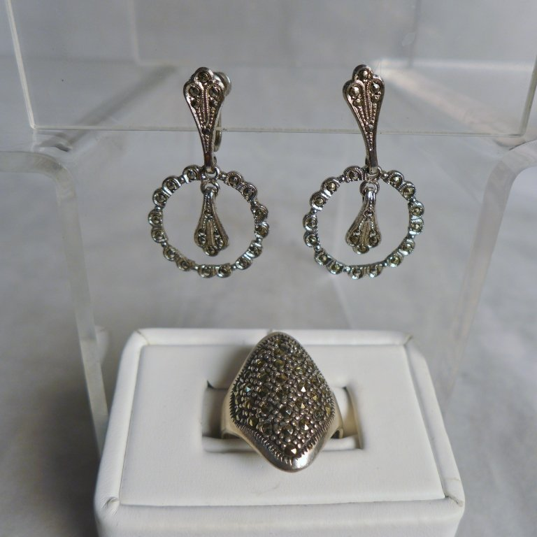 Silver Marcasite Jewelry Assortment - 10