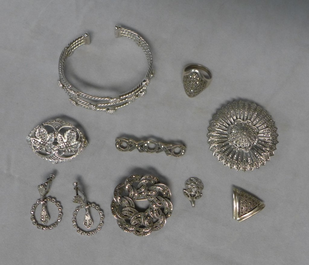 Silver Marcasite Jewelry Assortment