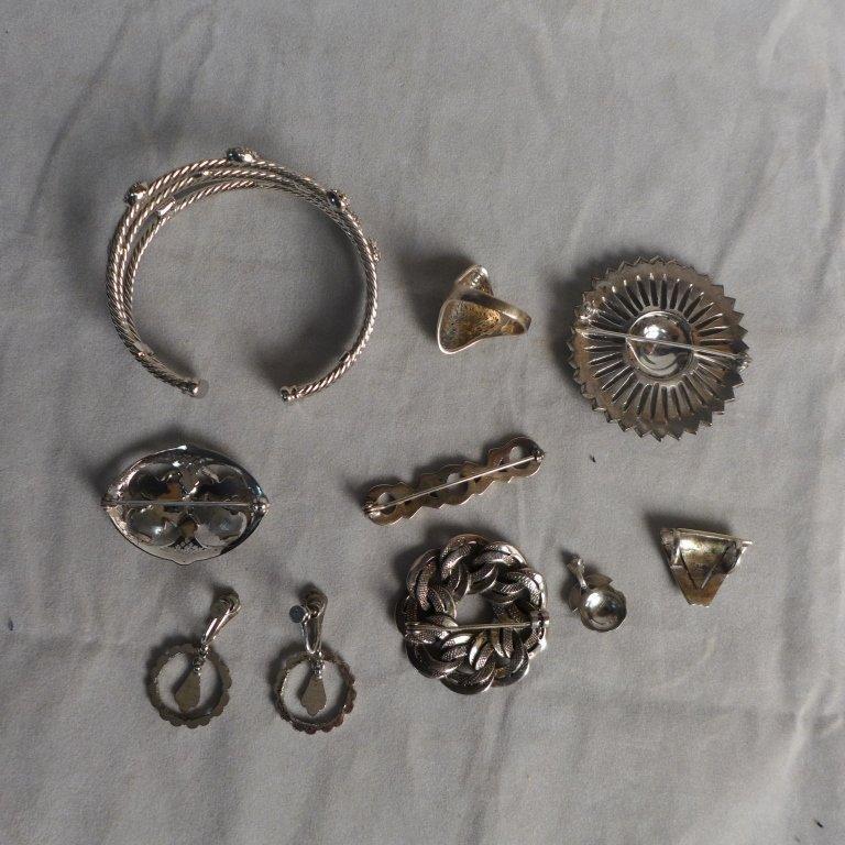 Silver Marcasite Jewelry Assortment - 2