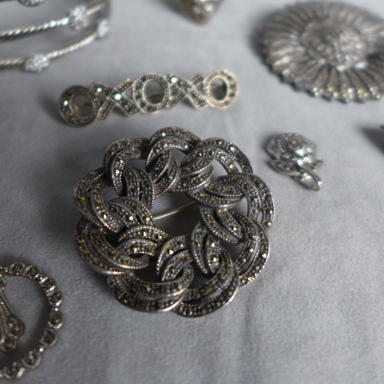 Silver Marcasite Jewelry Assortment - 3