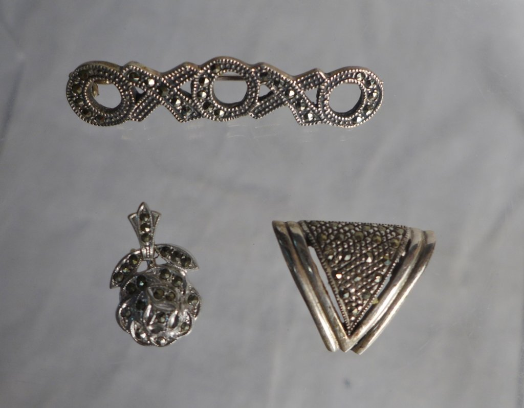 Silver Marcasite Jewelry Assortment - 8