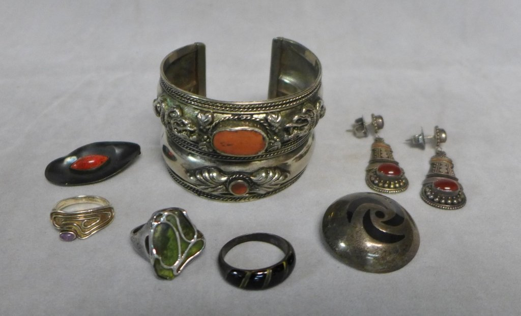 Sterling Silver Southwest Jewelry Assortment