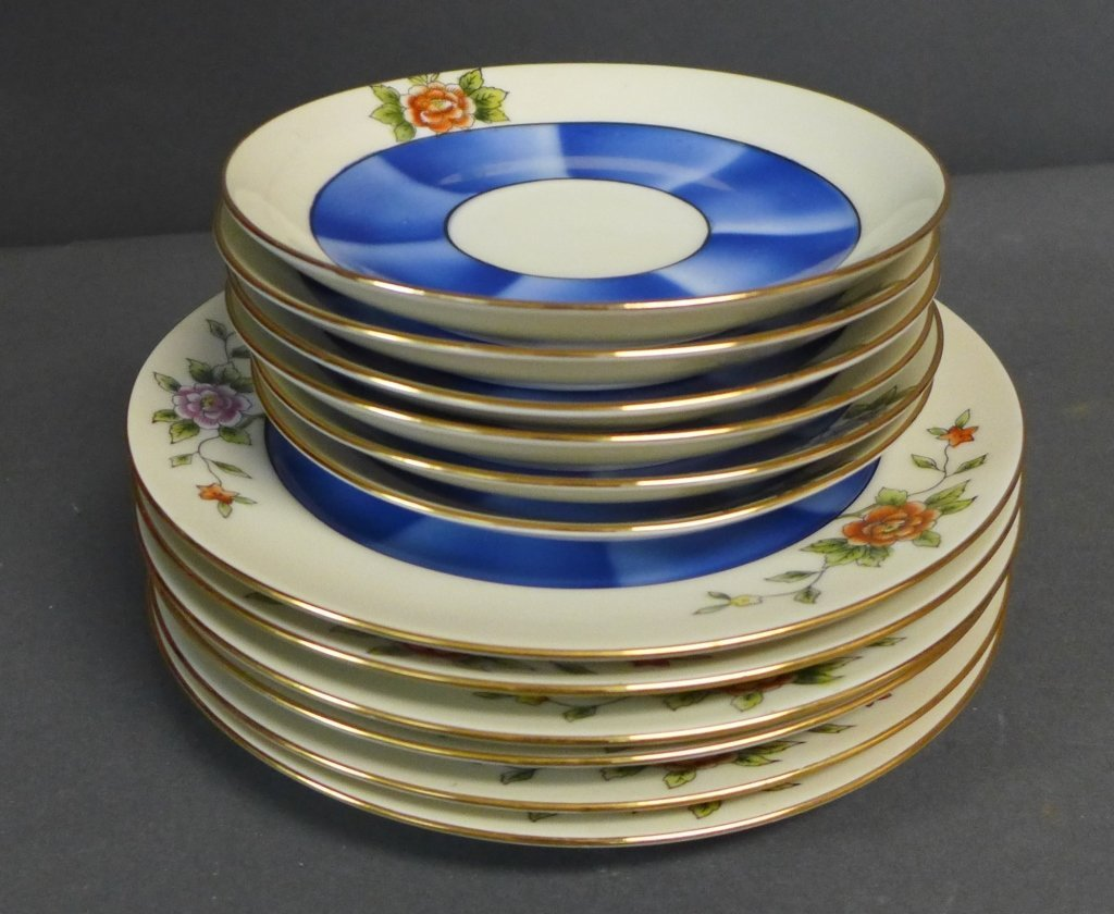 Noritake 'M' Tea Service w/ Dessert Plates - 9