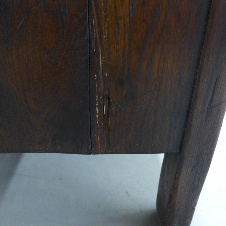 Linen Fold Oak Cabinet - 10