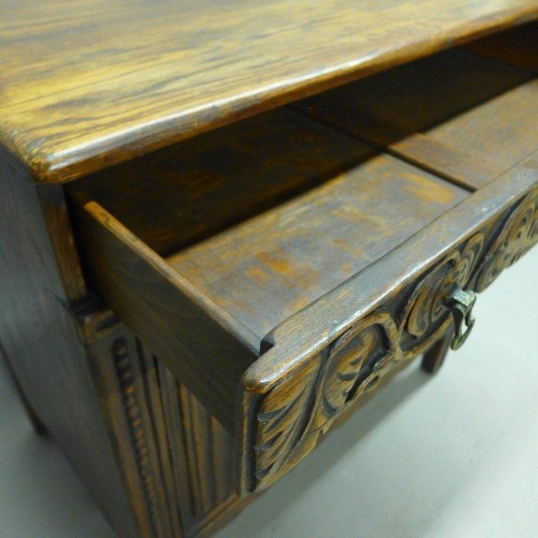 Linen Fold Oak Cabinet - 5