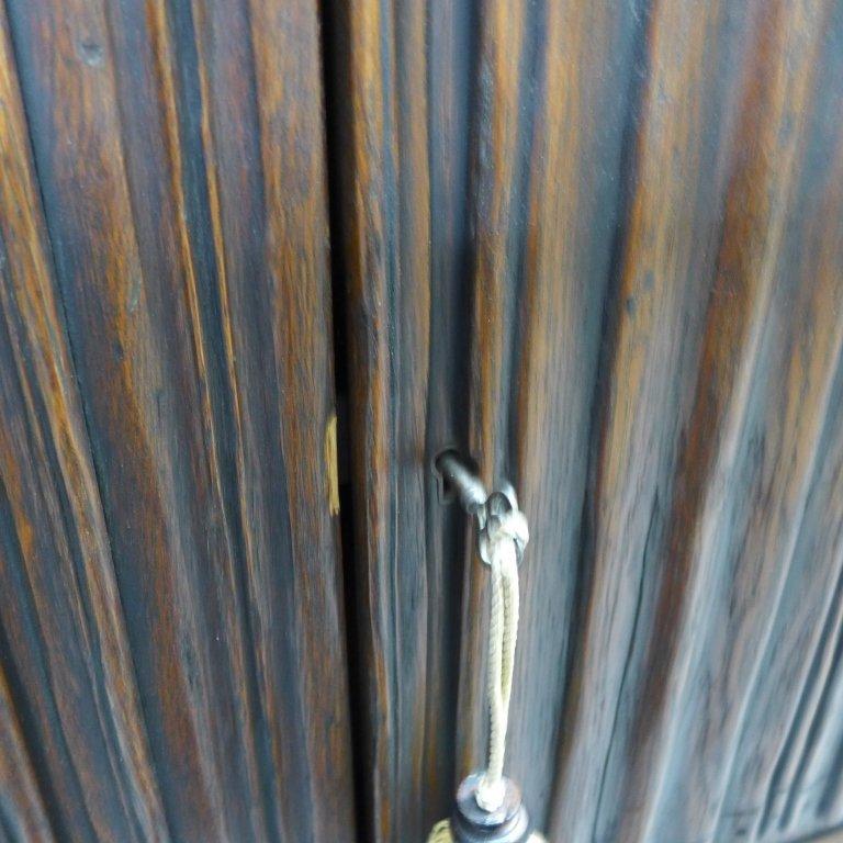 Linen Fold Oak Cabinet - 7
