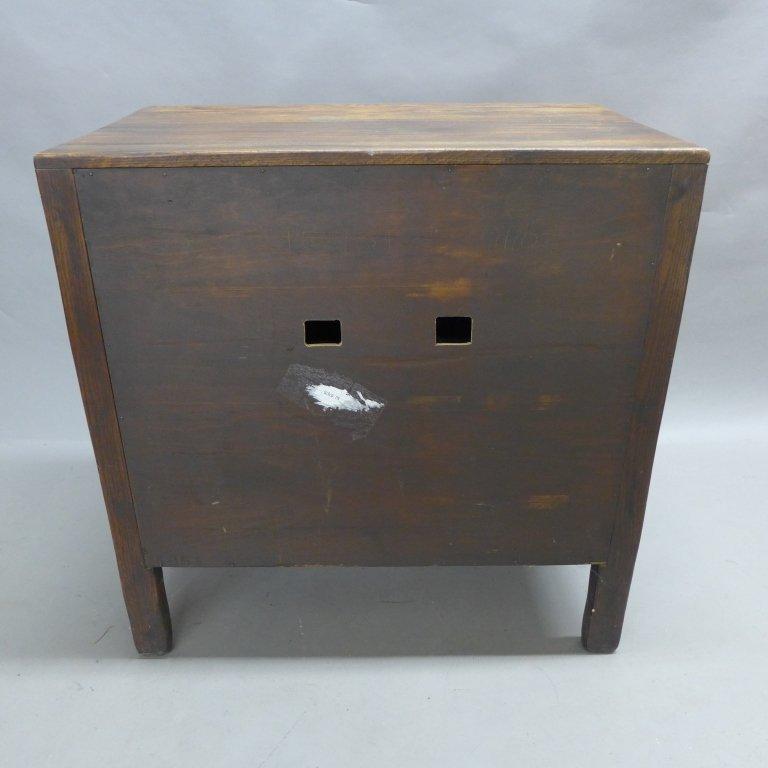 Linen Fold Oak Cabinet - 9