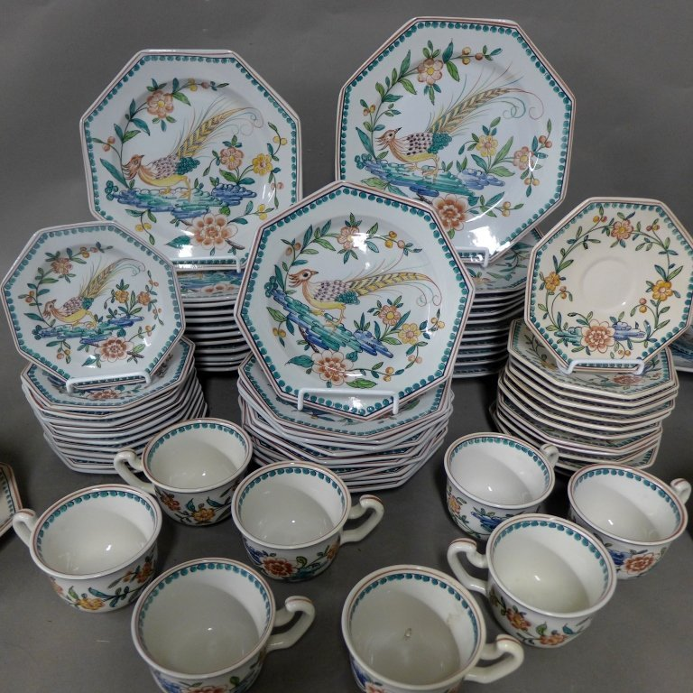 Hand Painted and Signed Serving Set for 12 - 2