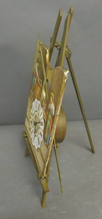Antique 8 Day Artist's Easel Form Timepiece - 6