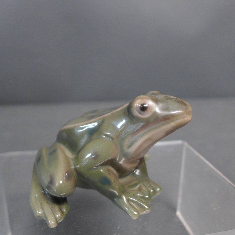 Danish Bing Grondahl Porcelain Frog - 8