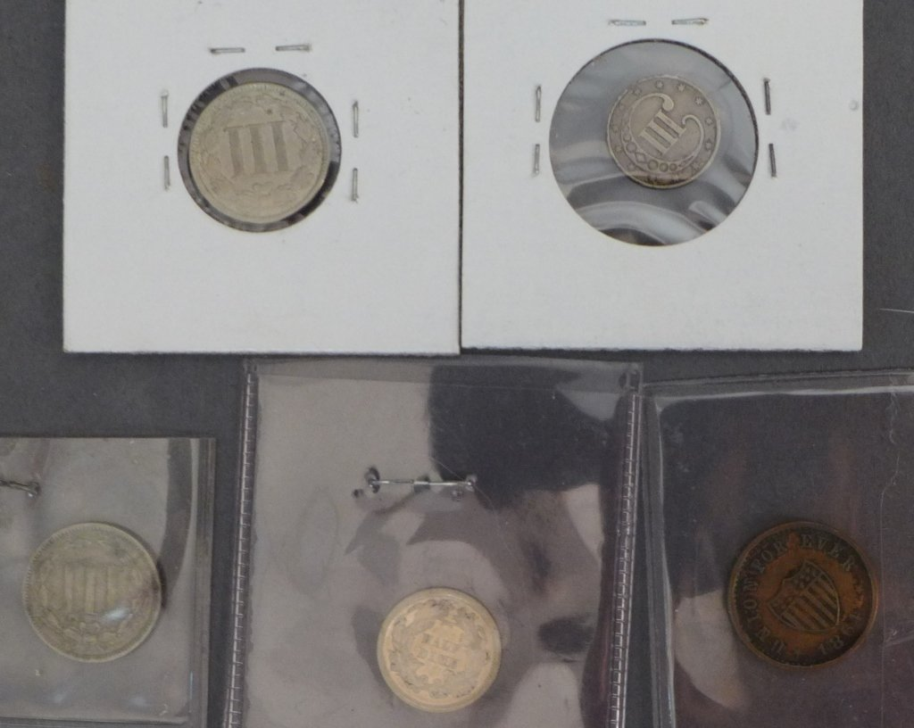 Assortment of 3 Cent & 5 Cent Coins - 2