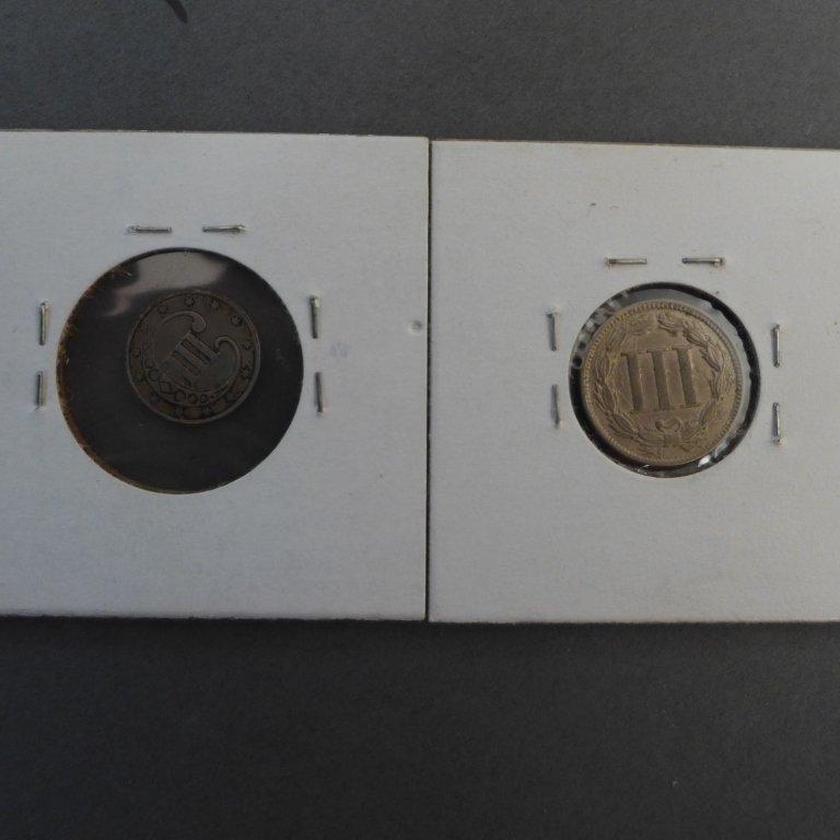 Assortment of 3 Cent & 5 Cent Coins - 4
