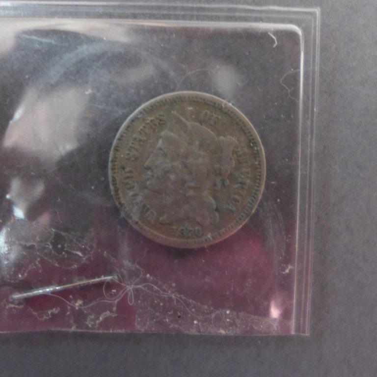 Assortment of 3 Cent & 5 Cent Coins - 7