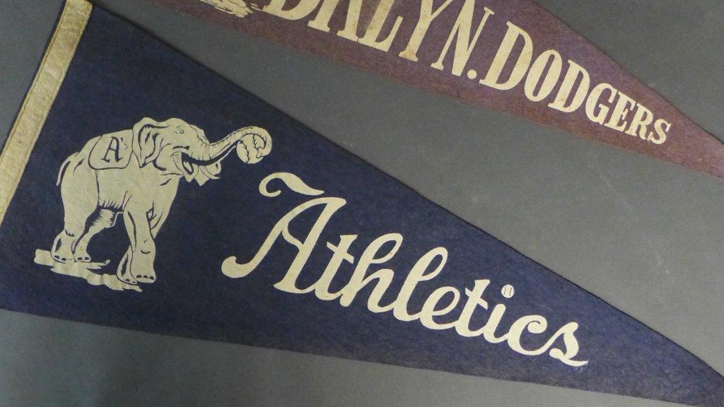 Two Rare Baseball Pennant Flags - 5
