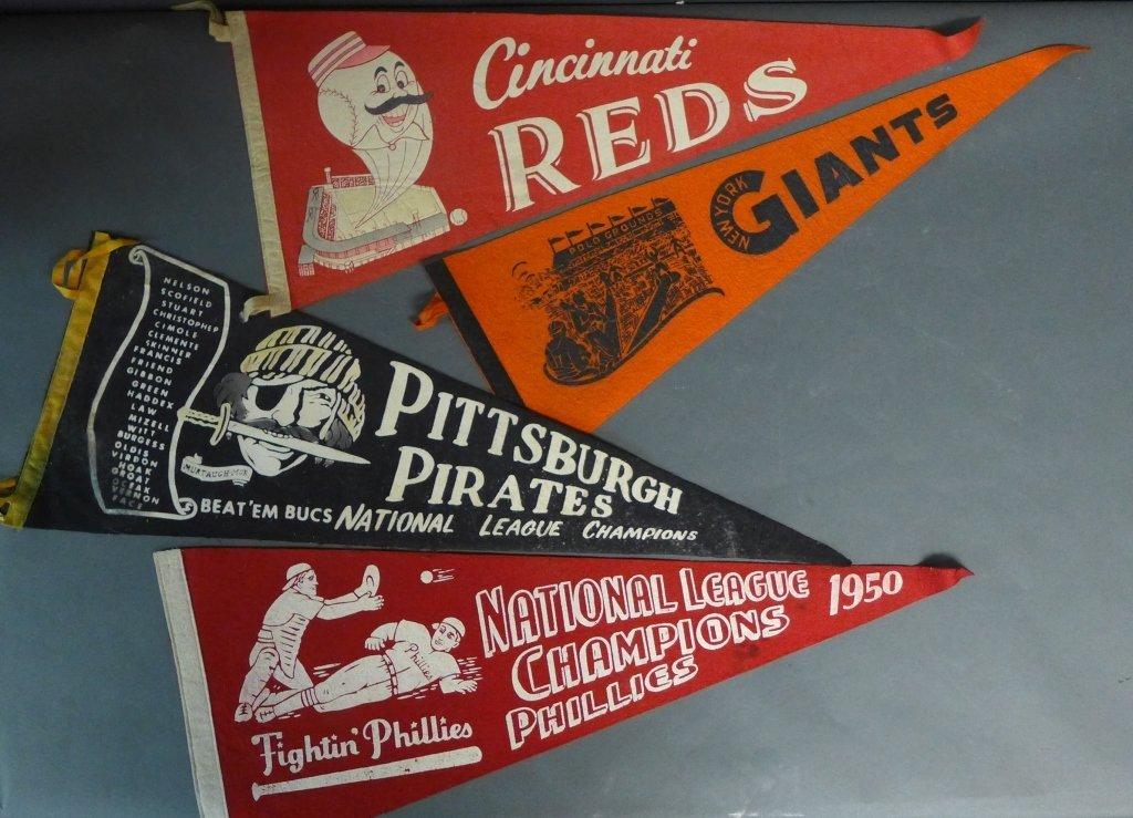 National League Vintage Baseball Pennant Flags