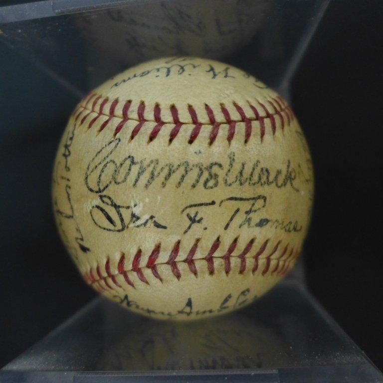 1938 Philadelphia Athletics Team Signed Ball w/JSA