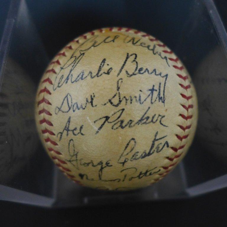 1938 Philadelphia Athletics Team Signed Ball w/JSA - 2