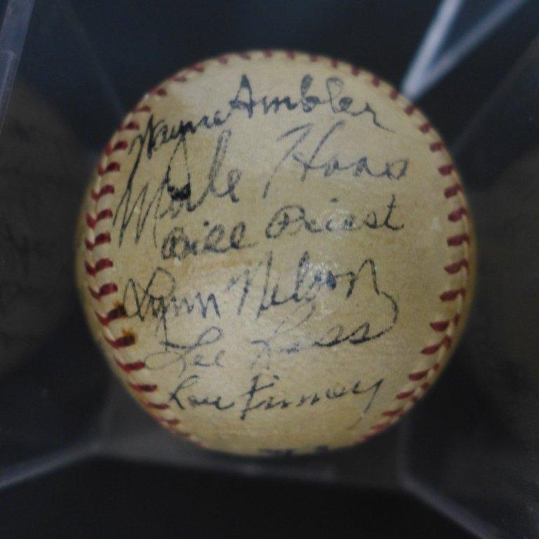 1938 Philadelphia Athletics Team Signed Ball w/JSA - 3