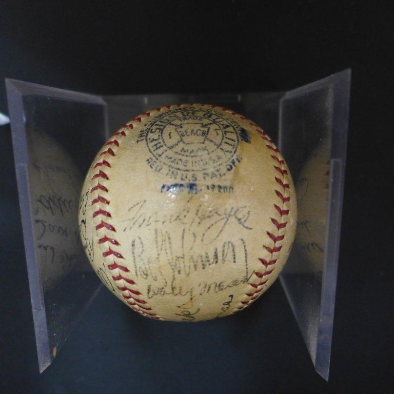 1938 Philadelphia Athletics Team Signed Ball w/JSA - 4