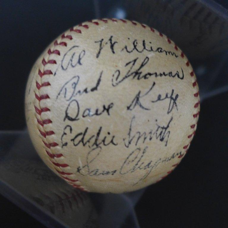 1938 Philadelphia Athletics Team Signed Ball w/JSA - 5