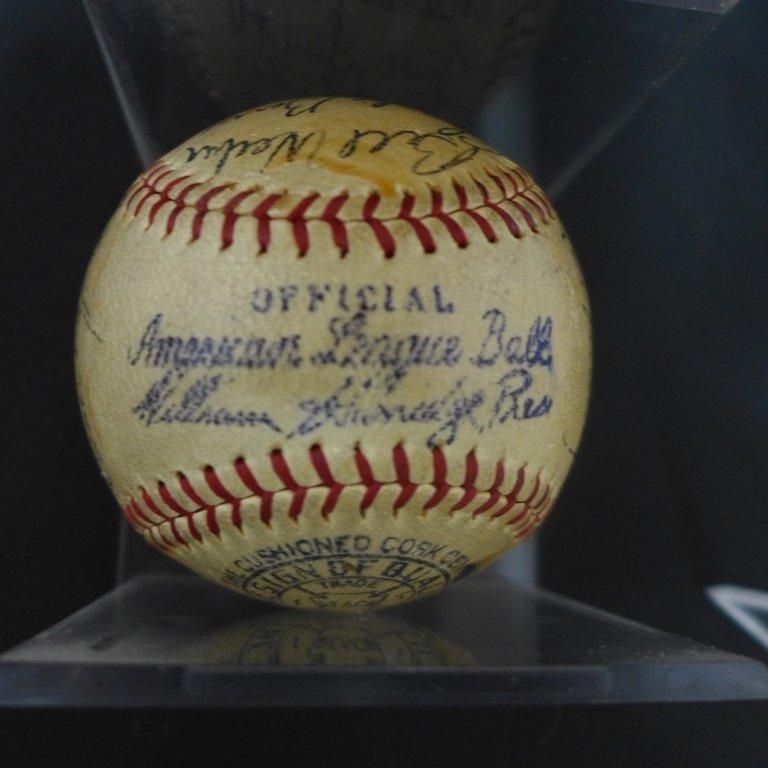 1938 Philadelphia Athletics Team Signed Ball w/JSA - 6