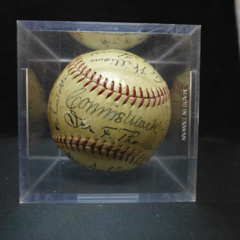 1938 Philadelphia Athletics Team Signed Ball w/JSA - 7