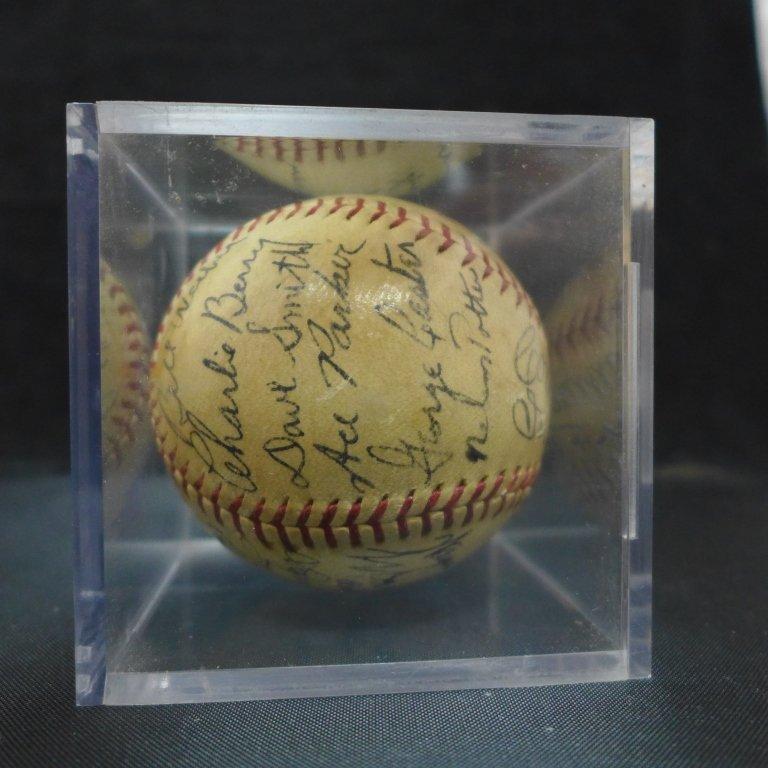 1938 Philadelphia Athletics Team Signed Ball w/JSA - 8