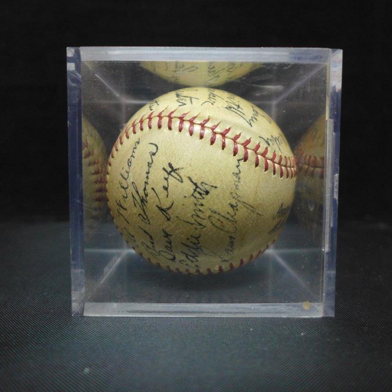 1938 Philadelphia Athletics Team Signed Ball w/JSA - 9