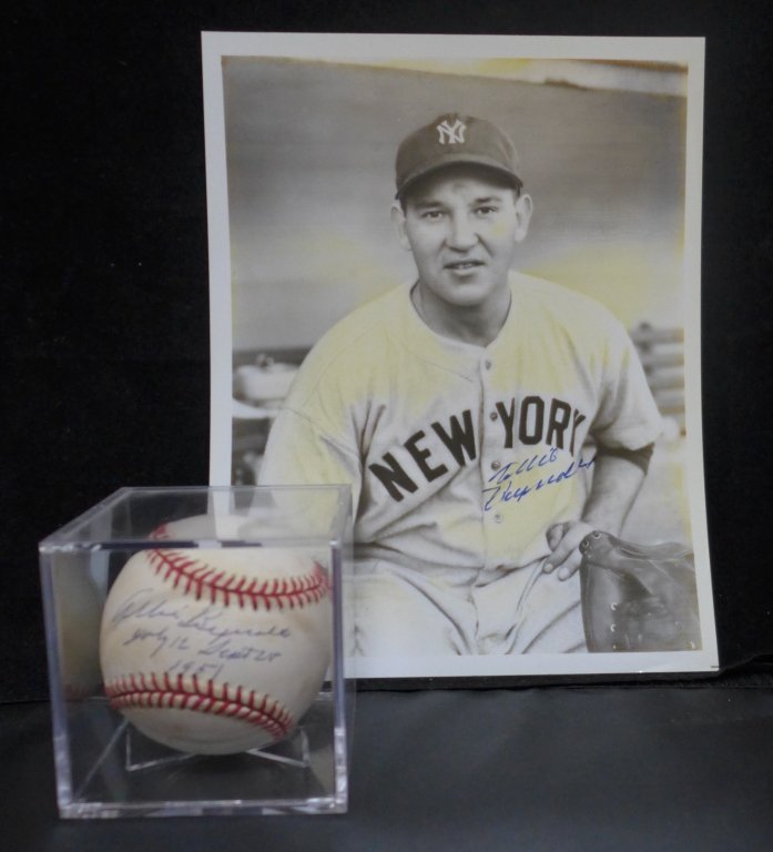 Allie Reynolds Autographed AL Baseball & Photo