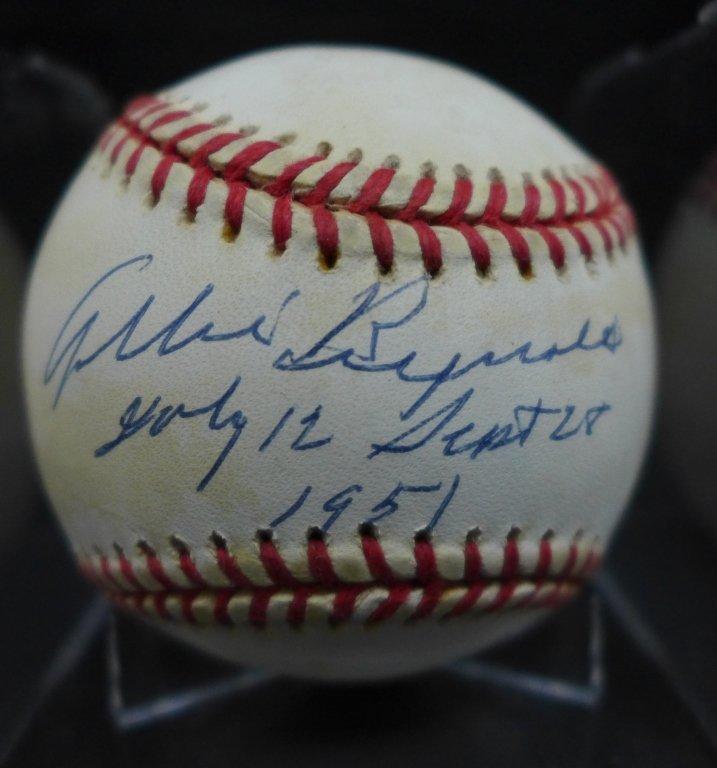 Allie Reynolds Autographed AL Baseball & Photo - 2