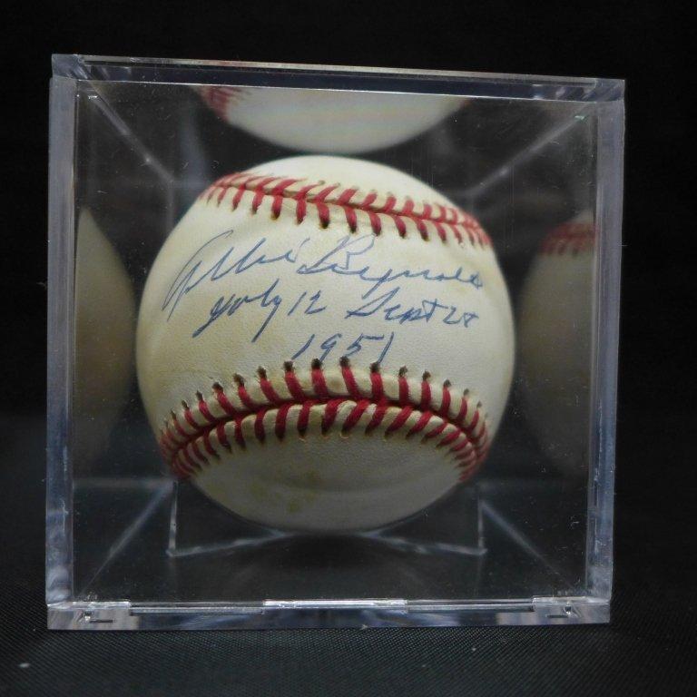 Allie Reynolds Autographed AL Baseball & Photo - 4