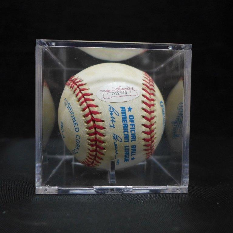 Allie Reynolds Autographed AL Baseball & Photo - 6