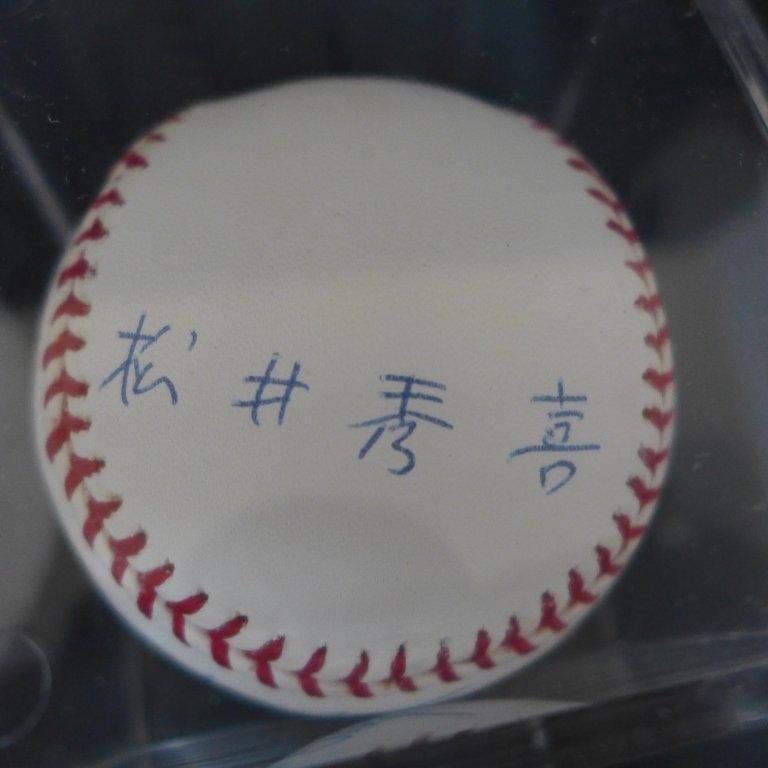 "Autographed Hideki Matsui ""#55"" MLB Baseball PSA - 2"
