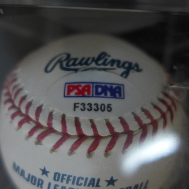 "Autographed Hideki Matsui ""#55"" MLB Baseball PSA - 3"
