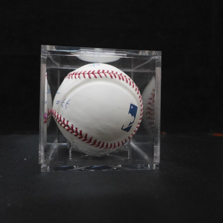 "Autographed Hideki Matsui ""#55"" MLB Baseball PSA - 7"