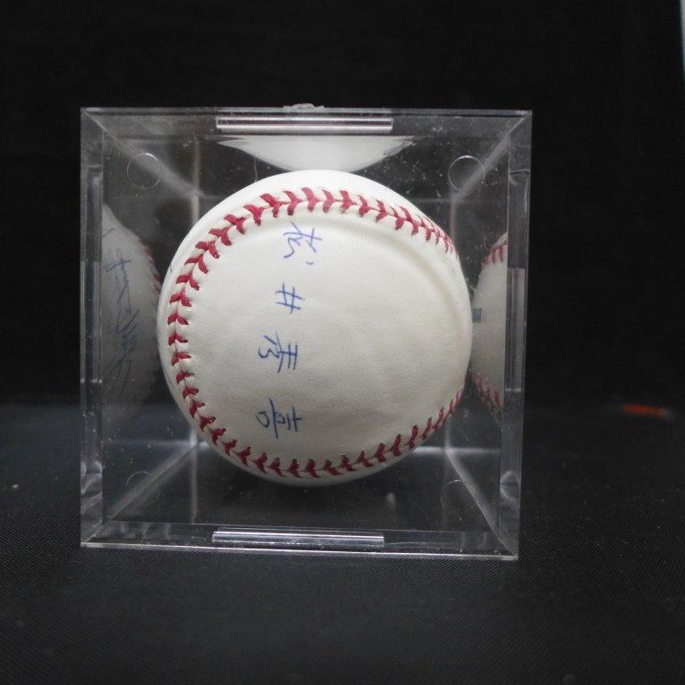 "Autographed Hideki Matsui ""#55"" MLB Baseball PSA - 8"
