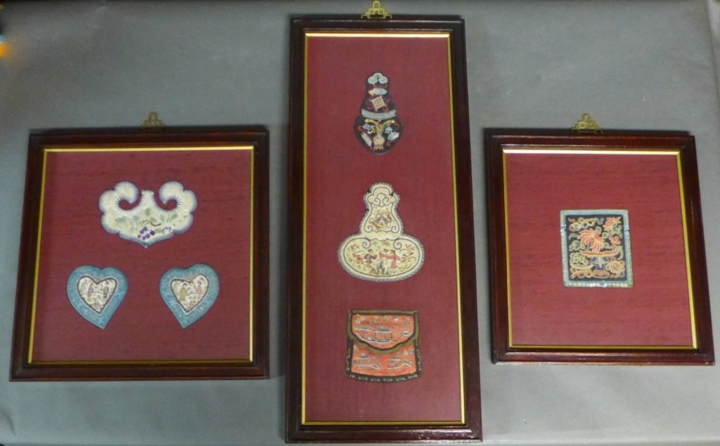 Set of Three Framed Chinese Silk Embroideries - 2