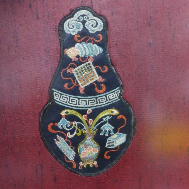 Set of Three Framed Chinese Silk Embroideries - 4